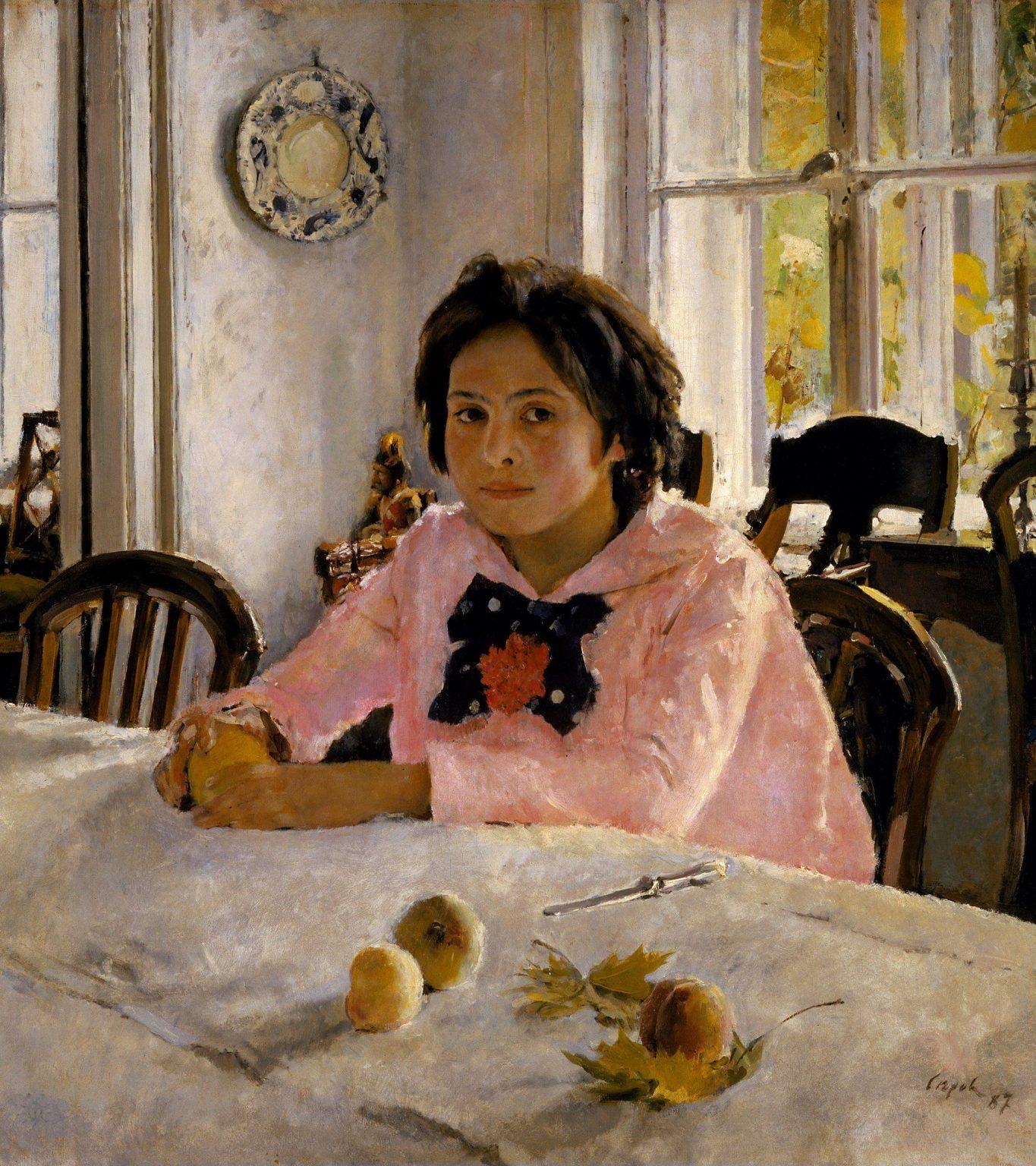 «Девочка с персиками», В. Серов, 1887